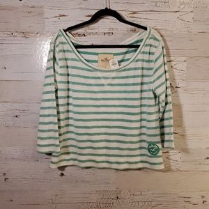 NWT Hollister stripe sweatshirt